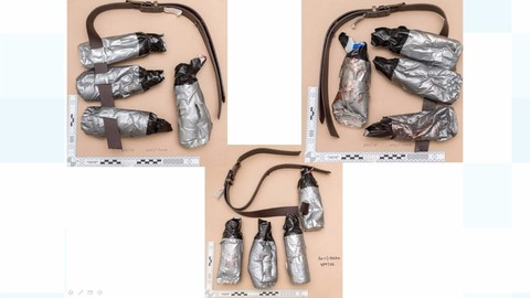 London Bridge attack: Police release images of terrorists' fake suicide belts