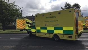 Nine in hospital after blaze at sheltered housing block