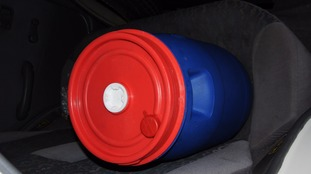 Barrels like this were stored in the car