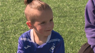 Meet Jaxon - one of Wales' youngest football stars