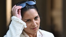 International Development Secretary Priti Patel arrives at Downing Street.