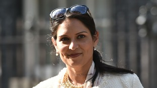 Priti Patel, who has been reappointed as International Development Secretary, leaves 10 Downing Street.