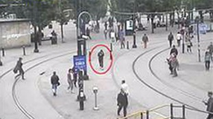 Abedi on CCTV in Manchester city centre