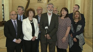 The Sinn Féin leader confirmed the party's 'magnificent seven' new MPs would not take up seats in Westminster.