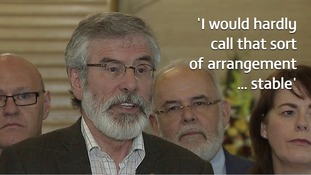 Gerry Adams: Tories and DUP will be 'coalition for chaos'