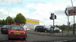 Investigation after dash cam captures road rage attack