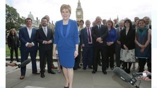 Nicola Sturgeon welcomes SNP leaders to Westminster