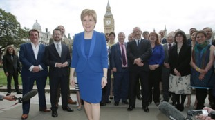 Nicola Sturgeon welcomes SNP leaders to Westminster