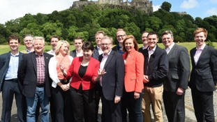 Scottish Conservative leader Ruth Davidson with David Mundell and the party's MPs today