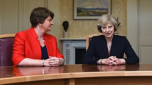 DUP leader Arlene Foster and Prime Minister Theresa May