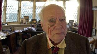 Sir Patrick Moore at home