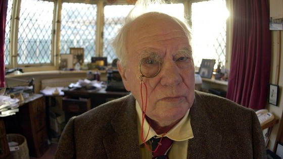 Sir Patrick Moore at home