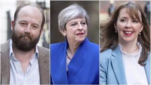 Nick Timothy, Theresa May and Fiona Hill.