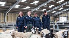 Students Imogen Bell, 16, of Haydon Bridge; Laura Elliott, 17, of Ellonby; Ebony Telford, 17, of Roadhead and Ollie Raine, 17, of Kirkoswald