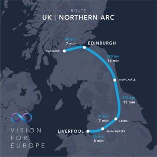 The Northern Arc route map.