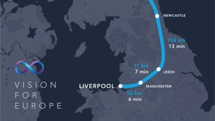 Revolutionary transport system aims for Liverpool to Manchester in six minutes