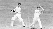 Brian Taylor keeping wicket for Essex against Worcestershire in 1957
