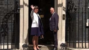 Arlene Foster arrived at Downing Street for the crucial talks.