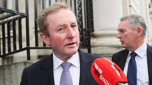 Enda Kenny arrived at Government Buildings in Dublin to chair his final cabinet meeting