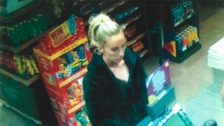 A woman police want to speak to after a robbery in Cambridge