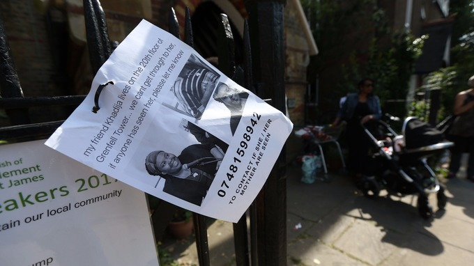 Posters for missing residents were soon placed in the local roads.