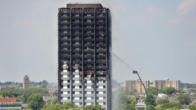 The quelled fire showed the extent of the horrendous damage.