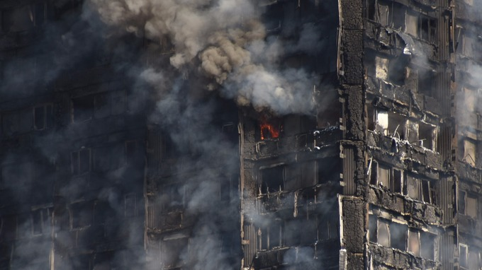 Forty fire trucks supported by 250 firefighters responded to the blaze.