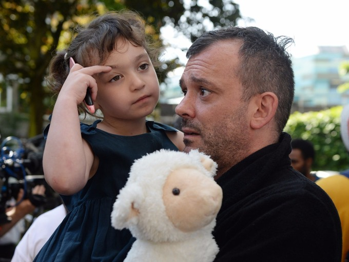 Resident Michael Paramasivan and his five-year-old daughter Thea Kavanagh managed to escape.