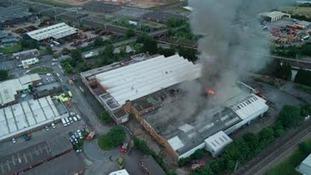 Fire at Lichfield Warehouse 'was deliberate'