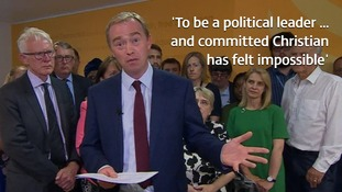 Tim Farron quits as Liberal Democrat leader after facing 'suspicion' over his Christian views