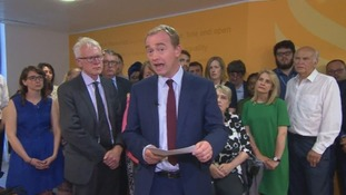 Tim Farron resigns as Lib Dem leader