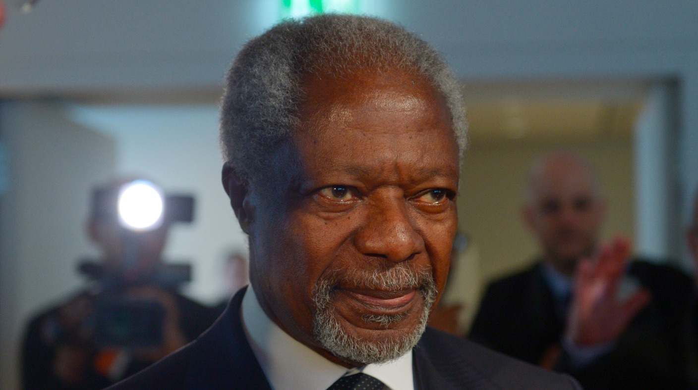 kofi annan Former united nations secretary general kofi annan talks about why the security council must expand to include emerging nations and the situation in syria 2:52.