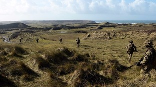 The Castlemartin military ranges in Pembrokeshire are used for training exercises.