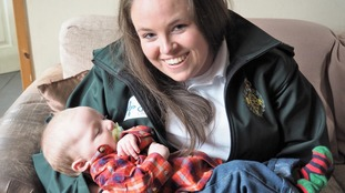 Danielle Burrows, from the Welsh Ambulance Service, stayed on the phone to Shannon throughout the birth until paramedics arrived