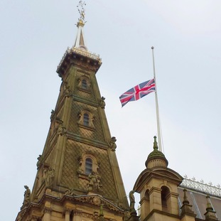 Respects are being paid at Halifax Town Hall