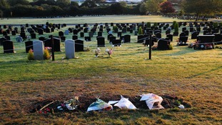 Jimmy Savile's headstone is removed from Woodlands Cemetery, Scarborough in the early hours of October 10.