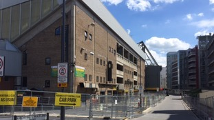 Security barriers have been put in place ready for the Take That concerts in Norwich.