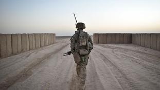 soldier on patrol