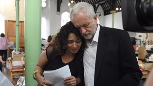 Jeremy Corbyn visited residents and survivors