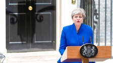 Prime Minister Theresa May at 10 Downing Street