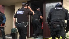 Five men have been charged with drug offences after a number of raids across the city yesterday morning.