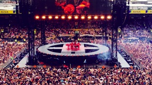 Take That performed to huge crowds at Carrow Road last night