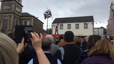 Standard is hoisted at Selkirk Common Riding