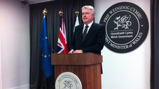 First Minister Carwyn Jones at his monthly media briefing