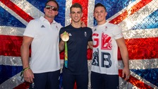 Scott Hann, seen here (left) with Max Whitlock is made an MBE