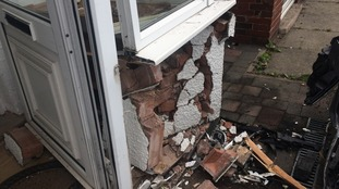 The porch needs to be rebuilt after the incident