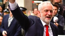 Jeremy Corbyn waving to crowds after recent election