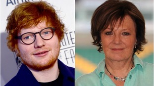 Ed Sheeran and Delia Smith have been honoured