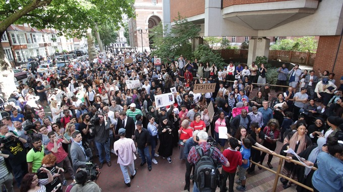 Anger bubbled over as people gathered at Kensington town hall