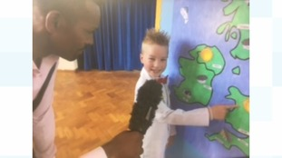 Des meets some competition for his weatherman role in the latest of our School Stories series